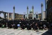 تصاویر/ مراسم عزاداری و  اقامه نماز ظهر عاشورا در حرم محمد هلال بن علی (ع) آران و بیدگل