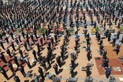 تصاویر/ مراسم عزاداری و اقامه نماز ظهر عاشورا در اردبیل