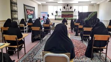 برگزاری مراسم عزاداری در مدرسه علمیه فاطمه الزهرا (س) شهرستان کبودرآهنگ