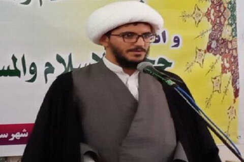 حجت الاسلام پیام ملکی مدیر مدرسه علمیه حضرت ولی عصر(عج) کنگاور