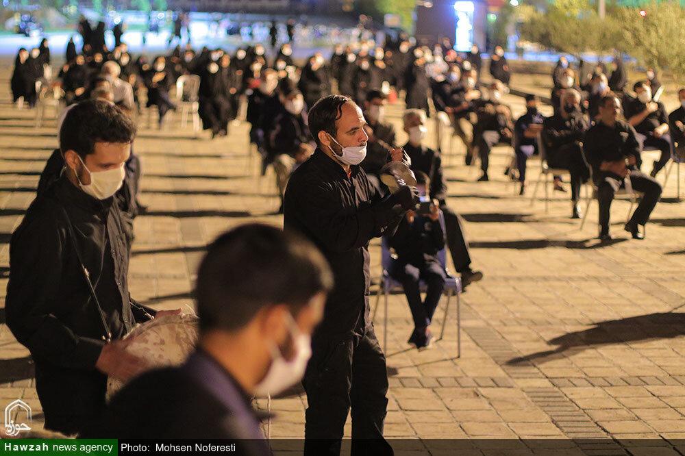 تصاویر/ مراسم عزاداری ایام محرم در جاده سلامت بیرجند توسط طلاب حوزه علمیه