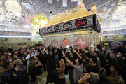 تصاویر/ عزاداری عاشورای حسینی در جوار حرم امامین عسکریین (ع) در سامرا