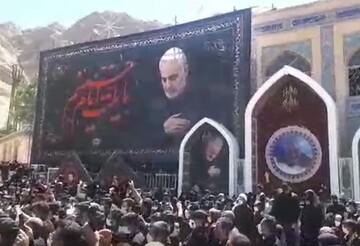 فیلم | دمامه زنی در گلزار شهدای کرمان