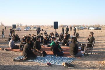 تصاویر/ احیای سنت عزاداری امام حسین(ع) در صحرا در ابرکوه