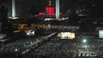 برگزاری مراسم عاشورای حسینی در حرم حضرت زینب (س) + تصاویر