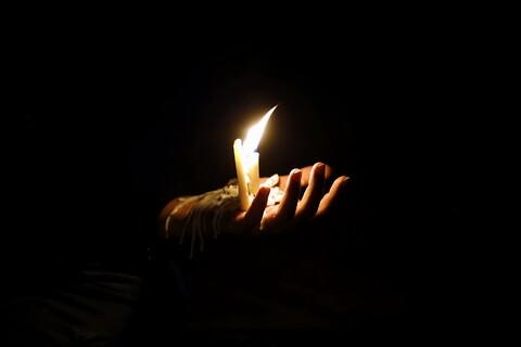 مراسم عزاداری شام غریبان در حرم حضرت معصومه(س)
