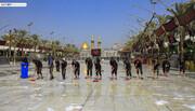بالصور/استعدادا لاستقبال عزاء بني اسد.. حملة تنظيف واسعة في مرقد الامام الحسين (ع) والمنطقة المحيطة به