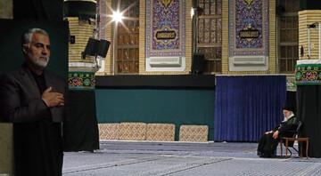 تصاویر/ مراسم عزاداری شب شهادت حضرت امام سجاد علیهالسلام با حضور رهبر انقلاب