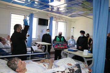 تصاویر/ مراسم عزاداری سیدالشهدا(ع) در جمع بیماران کرونایی استان البرز