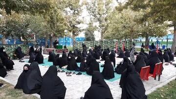 تصاویر/ مراسم عزاداری سید و سالار شهیدان در پارک بانوان بناب