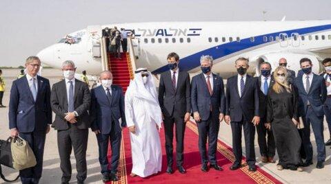فرود هواپیمای اسرائیلی در امارات