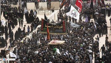 تصاویر/ حضور باشکوه دسته عزاداری قبیله بنی اسد و عشایر عراق در کربلای معلی