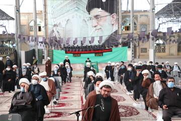 تصاویر/ عزاداری طلاب و روحانیون شیرازی در سوگ سیدالشهدا(ع)