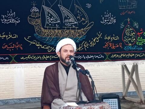 تصاویر/ آیین عزاداری هفتمین روز شهادت سیدالشهدا(ع) توسط طلاب خواهران سمنان