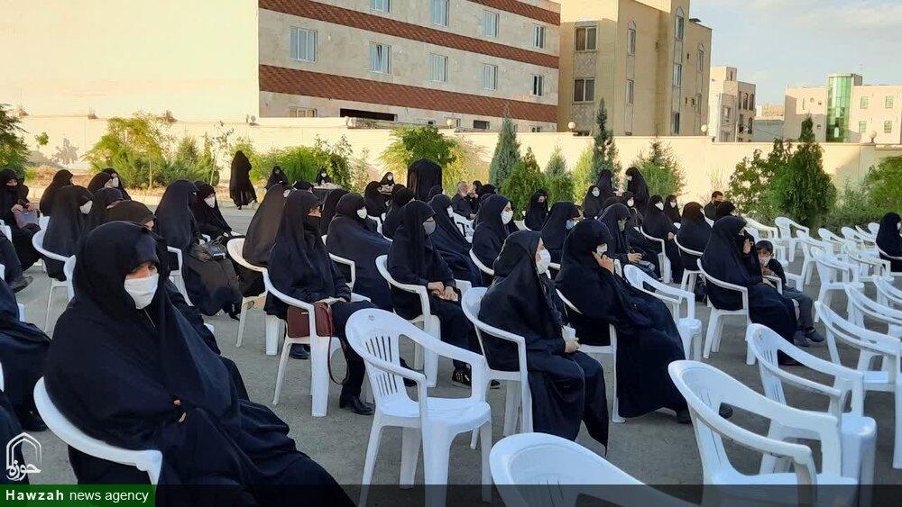 تصاویر/ آئین عزاداری هفتمین روز شهادت سیدالشهدا(ع) توسط طلاب خواهر سمنان