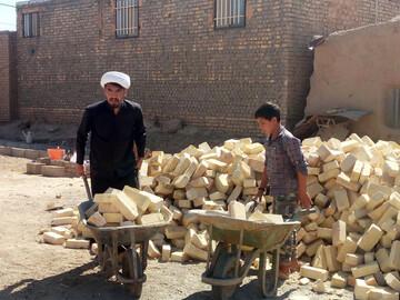 تصاویر/ ساخت منزل مسکونی برای نیازمندان توسط طلاب جهادی اسفراین
