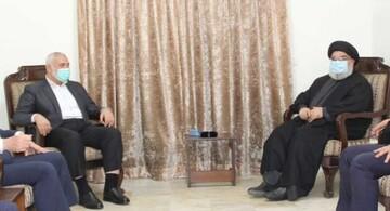 دیدار رهبران مقاومت لبنان و فلسطین، توطئهگران را به وحشت انداخت