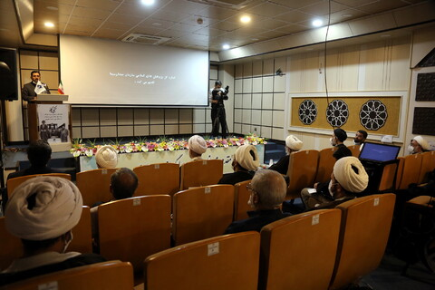 تصاویر/ بازدید آیت الله اراکی از مرکز پژوهشهای اسلامی رسانه و اکران مستندتکیه گاه