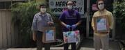 مسلمانان کالیفرنیا بستههای بهداشتی به بیمارستان اهدا کردند