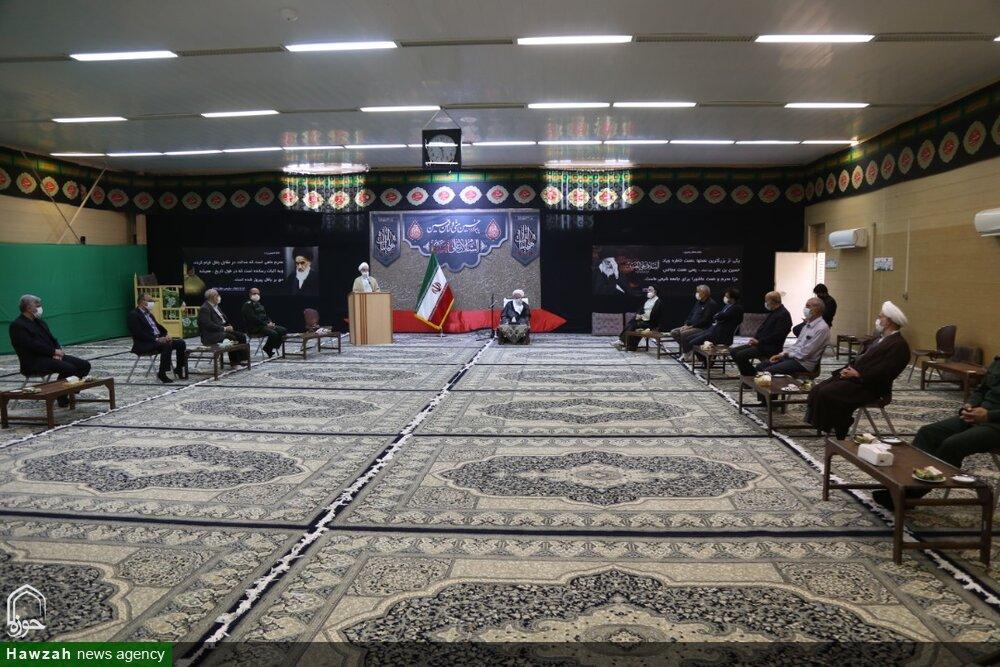 تصاویر/ دیدار جمعی از فرماندهان یزدی هشت سال دفاع مقدس با آیت الله ناصری