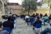 تصاویر/ نشست مدیر حوزه علمیه کرمانشاه با اساتید و طلاب مدرسه علمیه امیرالمومنین(ع) صحنه