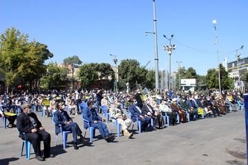 تصاویر/ تجمع اعتراض آمیز مردم بجنورد در محکومیت اهانت به مقدسات اسلامی
