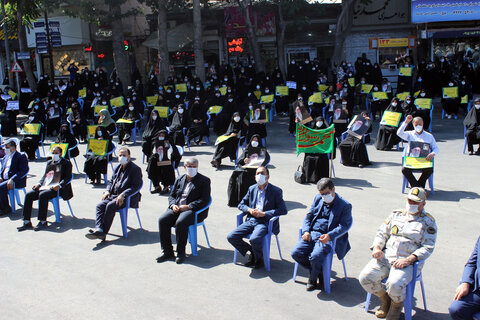تجمع اعتراض آمیز مردم بجنورد در محکومیت اهانت به مقدسات اسلامی