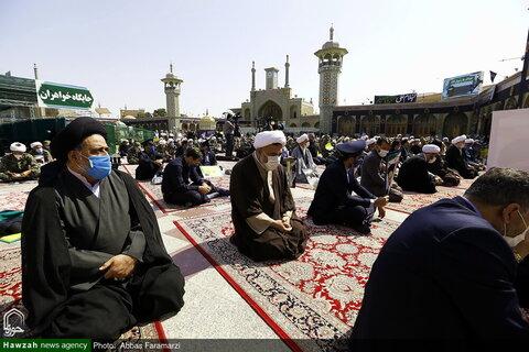 بالصور/ وقفة احتجاجية في إدانة الإساءة إلى الساحة المقدسة للنبي الأعظم (ص) بقم المقدسة