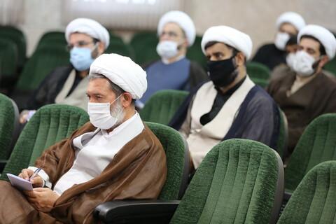 نشست نمایندگان استانی دفتر اجتماعی سیاسی حوزه با آیت الله حسینی بوشهری