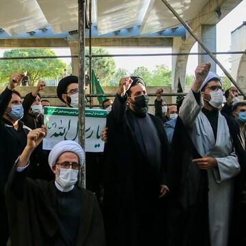 تصاویر / تجمع مردم تبریز در محکومیت اهانت به پیامبر مهربانیها