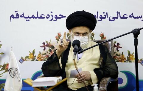 تصاویر/ مراسم آغاز سال تحصیلی جدید مدرسه عالی انوار طاها ، آیت الله حسینی بوشهری