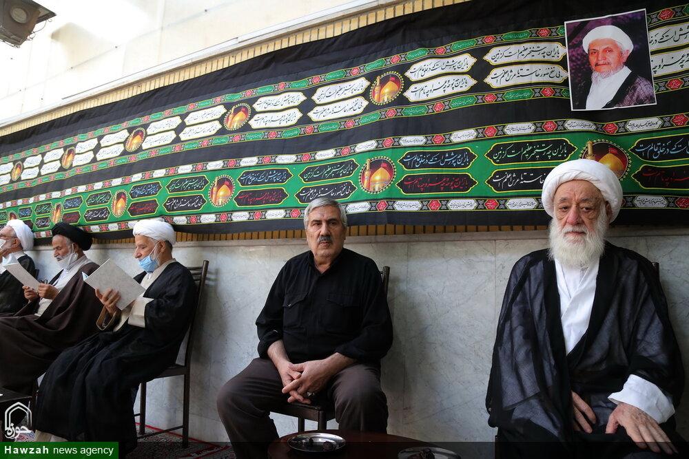 گزارش تصویری از بیت مرحوم آیت الله صانعی