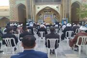 تصاویر/ تجمع اعتراض آمیز حوزویان کرمانشاه در محکومیت اهانت نشریه فرانسوی به پیامبر(ص)