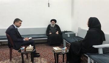 مكتب آية الله السيستاني يصدر بيانا بشأن لقاء سماحته ببلاسخارت