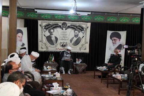 تصاویر / نشست شورای هماهنگی حفظ آثار و نشر ارزشهای دفاع مقدس روحانیون در استان همدان