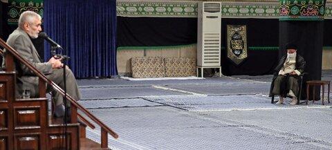Imam Khamenei attended a mourning ceremony for the martyrdom of Imam Sajjad (pbuh)