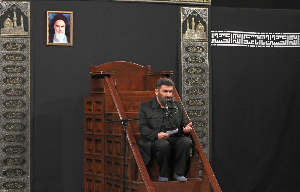 مراسم عزاداری روز شهادت حضرت امام سجاد علیهالسلام با حضور رهبر معظم انقلاب