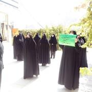 تجمع بانوان طلبه شهرستان تفت در محکومیت هتک حرمت به پیامبر+ تصاویر