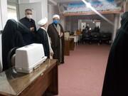 مدیر حوزه خواهران سمنان از کارگاه تولید ماسک بانوان طلبه شاهرود بازدید کرد + عکس