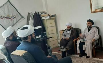 تصاویر/ دیدار مدیر حوزه علمیه استان کردستان با مدیران مدرسه سفیران هدایت بیجار