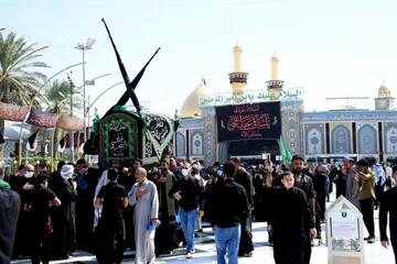 دستههای عزای امام سجاد(ع) در کربلا + تصاویر