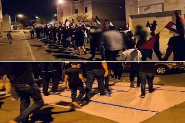 """اعتراضات شبانه بحرینیها و سر دادن شعار """"الله اکبر"""" از بالای منازل"""