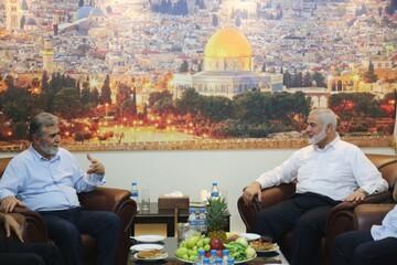 همزمان با عادی سازی روابط، رهبران حماس و جهاد اسلامی دیدار کردند