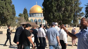 Dozens of Jewish settlers storm Al-Aqsa Mosque