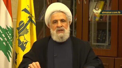 Sheikh Qassem: Normalization deals will identify Palestine traitors, 'Israel' is unprecedentedly deterred by resistance