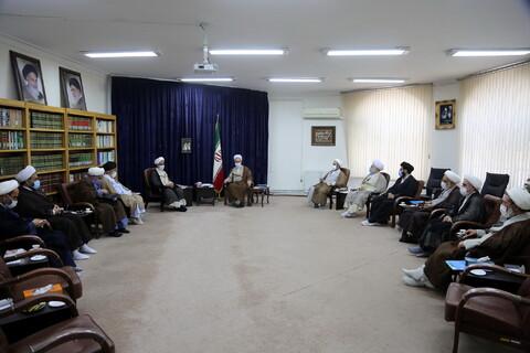 تصاویر/ دیدار شورای عالی بسیج با آیت الله اعرافی