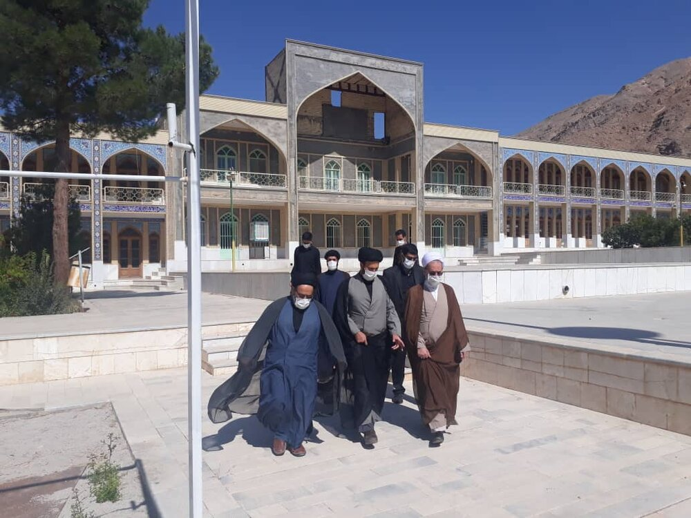 بازدید آیت الله اعرافی از مدرسه علمیه مدینه العلم شهر رضا