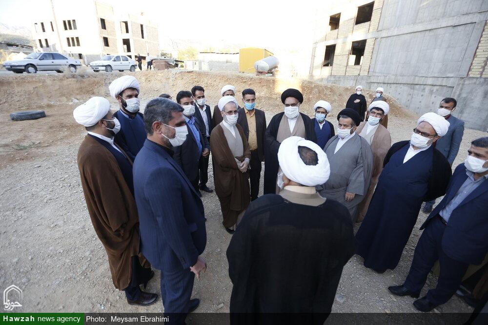 تصاویر/ بازدید آیت الله اعرافی از ساختمان سفیران هدایت و مدرسه علمیه امام رضا(ع) یاسوج
