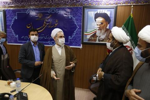 حضور آیت الله اعرافی در دفتر نظارت و بازرسی انتخابات استان کهگیلویه و بویراحمد