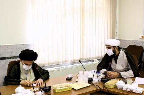 تصاویر/ دیدار مسئول مرکز رسانه و فضای مجازی حوزه های علمیه با آیت الله بوشهری